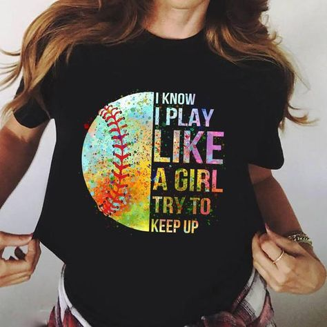 Sport Girl Style Christmas T-Shirt This t-shirt is Made To Order, one by one printed so we can control the quality. Softball Tshirts, Softball Room, Softball Memes, Softball Crafts, Softball Players, Girls Softball, Fastpitch Softball, Baseball Shirts, Sports Shirts