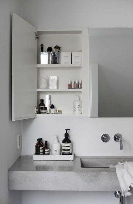 59 Ideas Bathroom Furniture Ideas Storage Mirror Concrete Bathroom Bathroom Design Minimal Bathroom