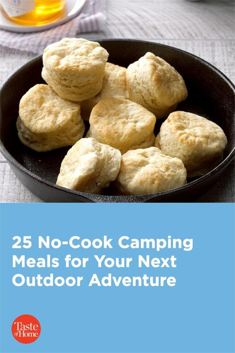 If you like to play all day, then no-cook camping meals will keep you having fun in the great outdoors!