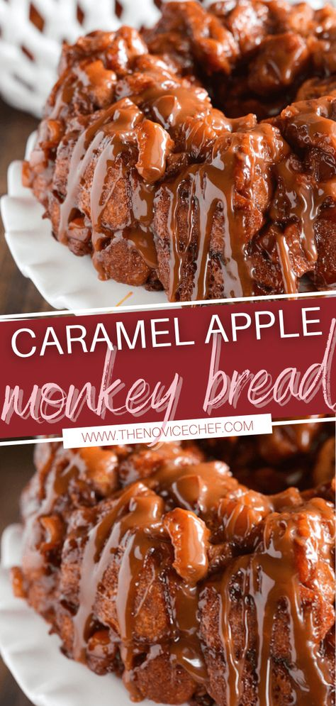 Take your holiday breakfast over the top! Caramel Apple Monkey Bread is crazy easy to make. With just 6 ingredients, you can have a gooey guilty pleasure that is best served hot out of the oven with a big mug of coffee. Add this recipe to your Thanksgiving menu!