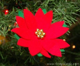 Poinsettia Ornament craft - For Mexico - Christmas Around The World