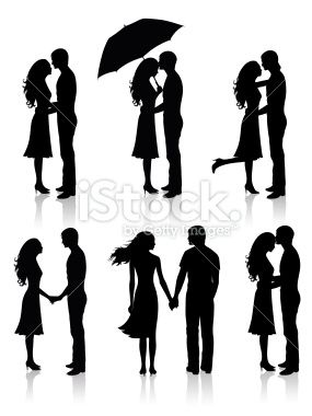 Collection of couples. Royalty Free Stock Vector Art Illustration
