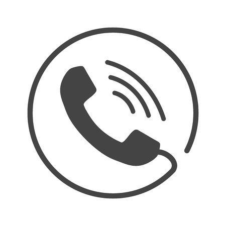 Icono de teléfono vectorial, contacto, signo de servicio de apoyo aislado  sobre fondo blanco. Teléfono, icono de la comunicación en estilo plano. |  Icono telefono, Set de iconos, Logo telefono