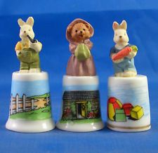 Betty Boop USA Set of Three Thimbles Birchcroft Porcelain China Collectable