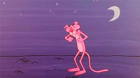 tired sleep sleepy yawn pink panther