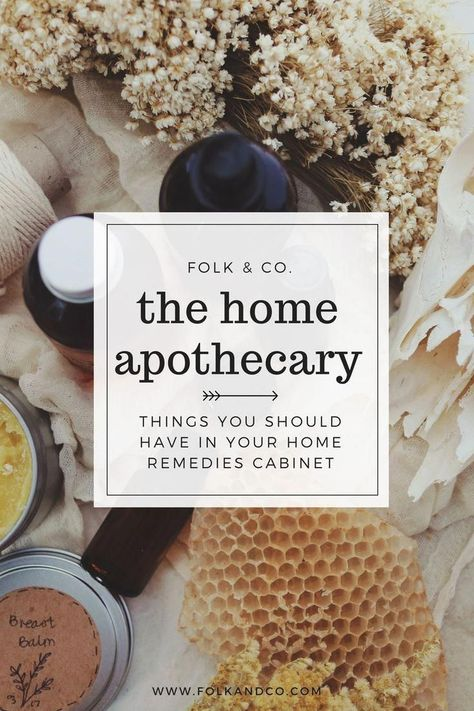 Things you need in your Home Apothecary -- If you're looking for a more natural route to everyday problems or natural first aid solutions, then this post is for you. This outlines what you should have in your home apothecary, witch doctor cabinet, or natural medicine cabinet–great for beginners who aren't sure where to start. #organicfood
