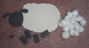cotton ball sheep