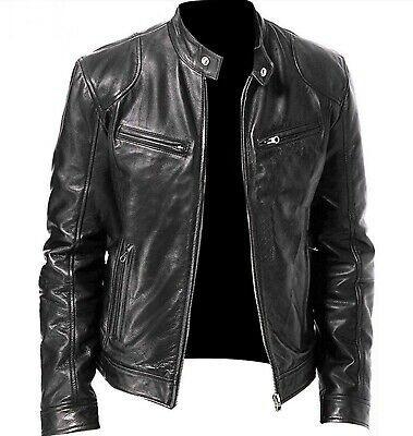 Black Leather Biker Jacket, Leather Jacket Outfits, Leather Men, Leather Collar, Cowhide Leather, Real Leather, Distressed Leather Jacket, Classic Leather, Lambskin Leather