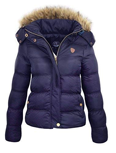 2018 sneakers official supplier great deals 2017 MISSY Womens Ladies Quilted Winter Coat Puffer Fur Collar ...