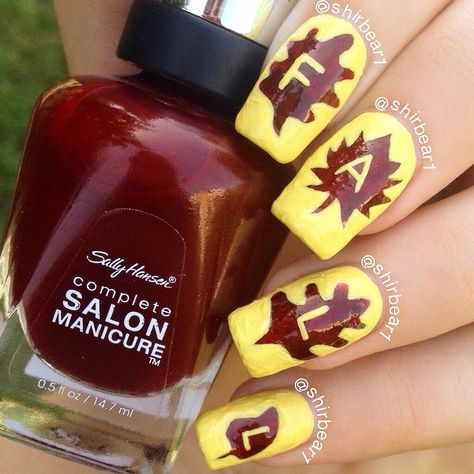 FALL nail art, for more nail arts go follow me on Instagram @shirbear1 and check my youtube channel Shirbear1