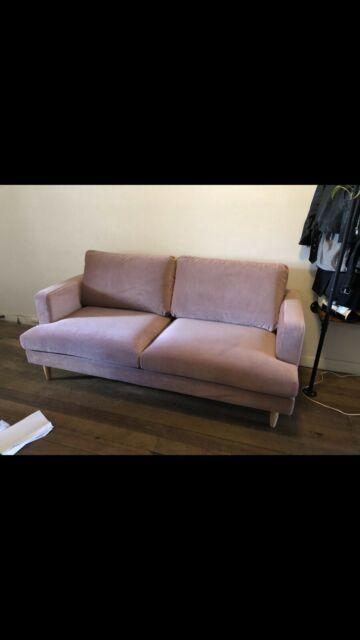 Pink Velvet Couch Sofas Gumtree Australia Melbourne City East Melbourne 1243539818 In 2020 Pink Velvet Couch Pink Couch Velvet Couch