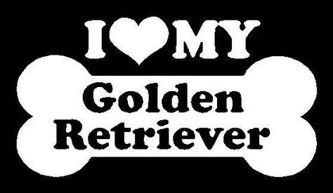 I Love My Golden Retriever 59 I Love My Dog Decals Dog Decals