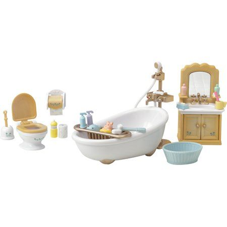 Calico Critters Country Bathroom Set Furniture Accessories Walmart Com In 2020 Country Bathroom Bathroom Sets Furniture Accessories
