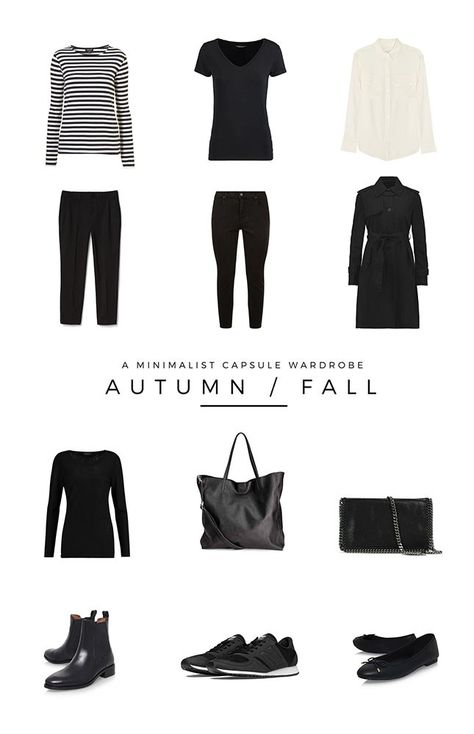 A minimalist Autumn / Fall capsule wardrobe. These are the 12 pieces I will be using to create my outfits for Fall in 2017 | minimal fashion | minimalist capsule wardrobe | minimal french style | year round capsule wardrobe