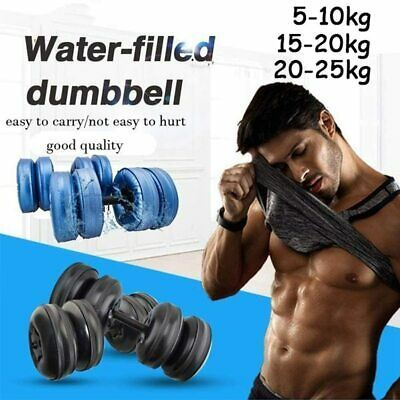 5 25kg Water Filled Adjustable Dumbbells Gym Training Weights Arm Muscle Fitness In 2020 Muscle Fitness Arm Muscles Adjustable Dumbbells
