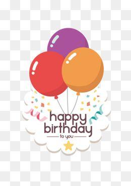 2020 的 Vector Happy Birthday Balloons Colored Balloons Flat