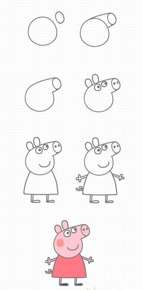How To Draw Peppa Pig Step By Step En 2019 Dessins Faciles