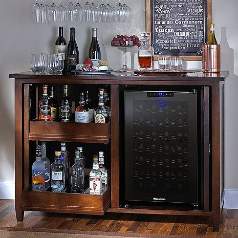 Firenze Mezzo Wine And Spirits Credenza With 28 Bottle Touchscreen Refrigerator Enthusiast