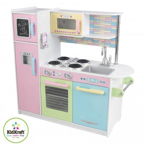 Kidkraft Kinderkuche Uptown Pastell Holzspielzeug Profi