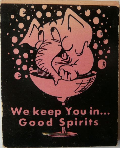 """#StockCut #Matchcover Art """"We Keep You in Good Spirits"""". To order your business' own branded #matchbooks call 800.605.7331 or goto: www.GetMatches.com. Today!"""