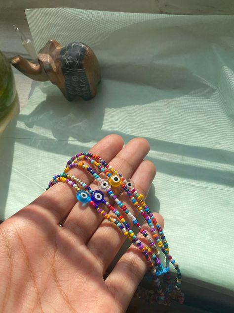 Hippie Jewelry, Cute Jewelry, Jewelry Accessories, Hippie Rings, Evil Eye Jewelry, Evil Eye Necklace, Ring Necklace, Beaded Choker, Beaded Jewelry