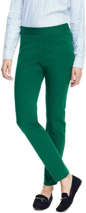 Lands End Women S Petite Mid Rise Bi Stretch Pencil Pants Pants Pencil Pants Outfits