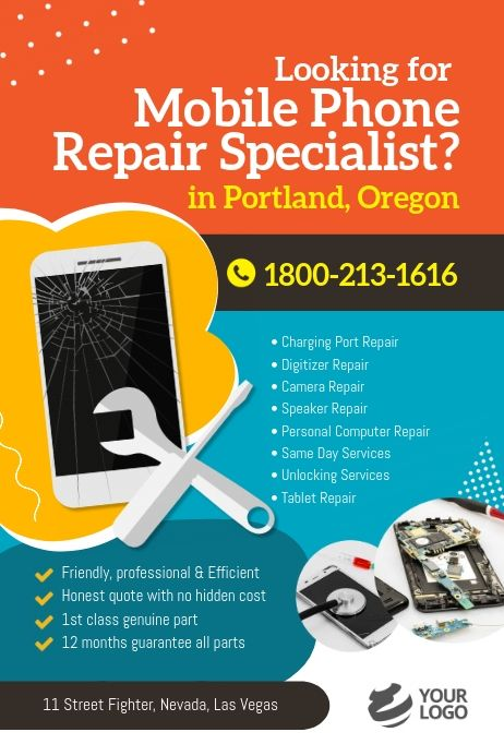 Mobile Phone Repair Specialist Flyer Cell Phone Repair Shop Mobile Phone Repair Mobile Phone