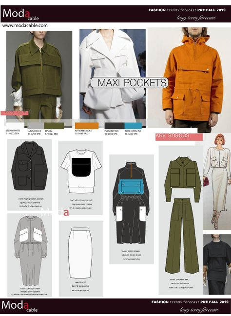 Pre Fall 2019 fashion trend Maxi Pockets only at www.modacable.com..follow us for more