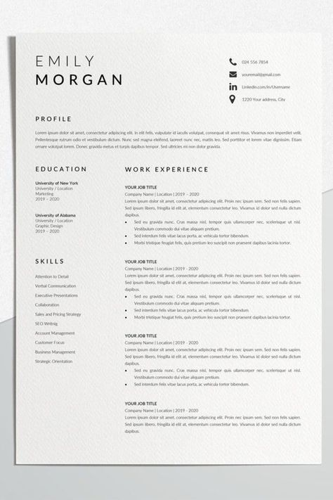 Professional Resume Template - Download for Free