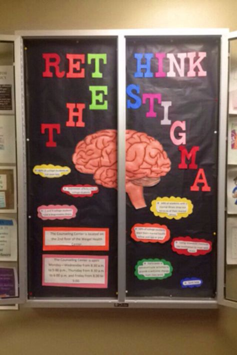 March's Health and Wellness Bulletin Board   Mental health facts and coping methods as well as contact information for the campus counseling  center