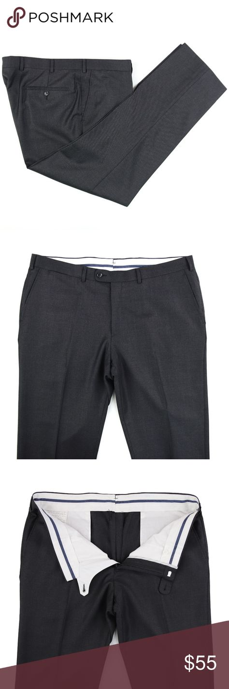 """Suitsupply Brescia Flat Front Dress Pants 40 X 30 Men's Suitsupply Brescia Flat Front Wool Dress Pants - Charcoal Gray - Size 40 X 30   Excellent Condition  Waist - 40"""" + 1 3/4"""" to let out  Inseam - 30 1/4"""" + 1 1/2"""" if cuffs are let out  Front Rise - 11""""  Bottom Cuff - 8 5/8"""" Suitsupply Pants Dress"""