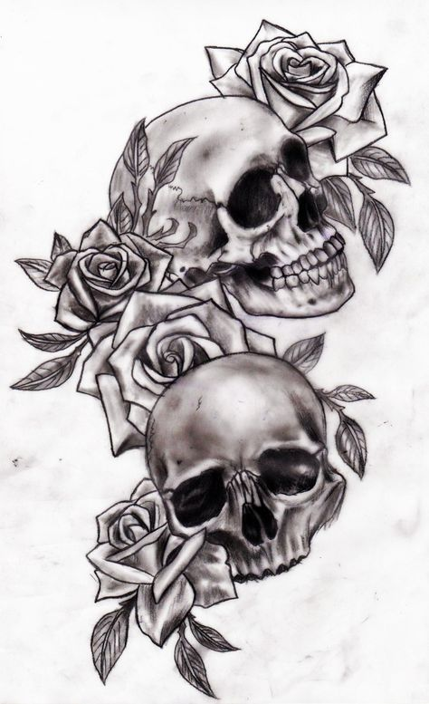 Tattoos Designs Rosesskull And Rose Tattoos Design Tatto Ideas Rkrvhho