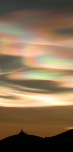 Nacreous Clouds Above McMurdo Base, Antarctica