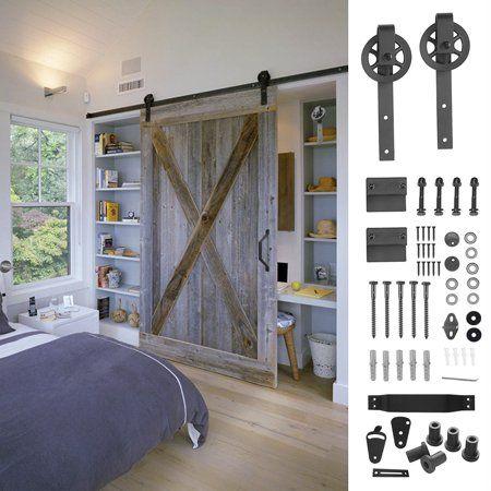 Heavy-Duty Sliding Black barn Door Handle with Country Design
