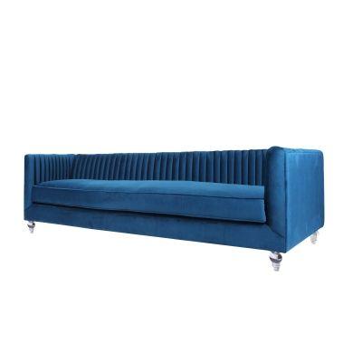 Trevon Kd Fabric Sofa Chair Acrylic Legs Loyal Blue 3500054 209 Furniture Direct Bedroom Furnishings Wholesale Furniture