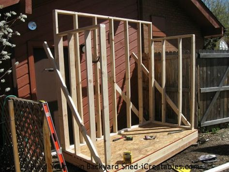 Lean To Shed Walls Attached To Shed Floor Shed Design Shed Plans Diy Shed Plans