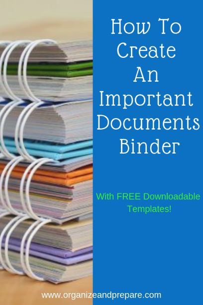 How To Create An Important Documents Binder - Organize & Prepare Family Emergency Binder, In Case Of Emergency, Bill Of Lading, Organizing Paperwork, Binder Organization, College Organization, Diy Organizer, Design Websites, Design Jobs