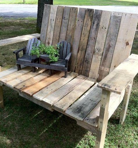 De jolis bancs en bois, faits maison pour le jardin ! | Mobilier ...