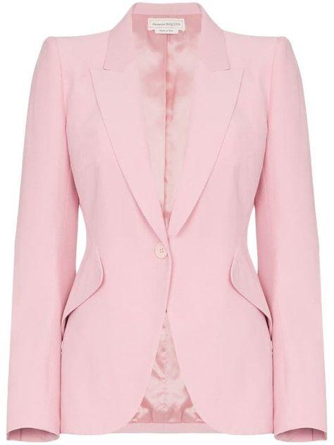 Alexander Mcqueen Single Breasted Blazer Alexander Mcqueen Designs Designer Outfits Woman Blazer