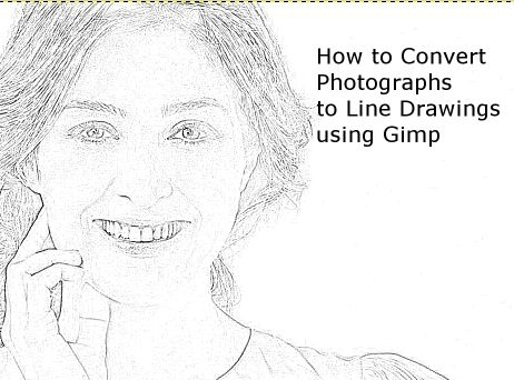 How To Convert Photographs Line Drawings With GIMP