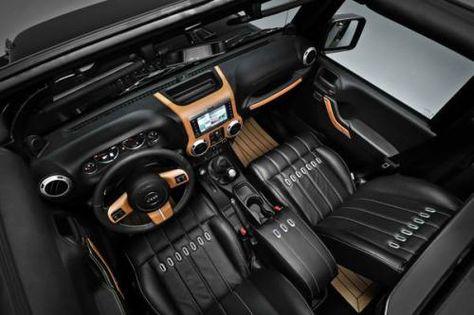 Jeep Wrangler Nautic concept interior