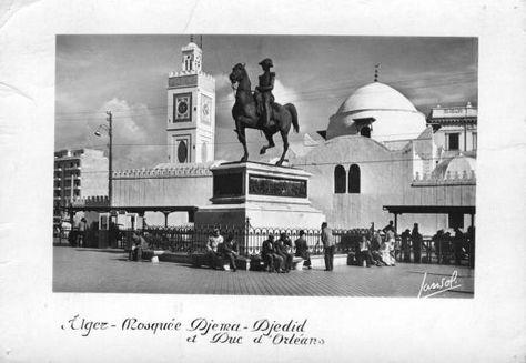 Statue équestre du duc d'Orléans à Alger