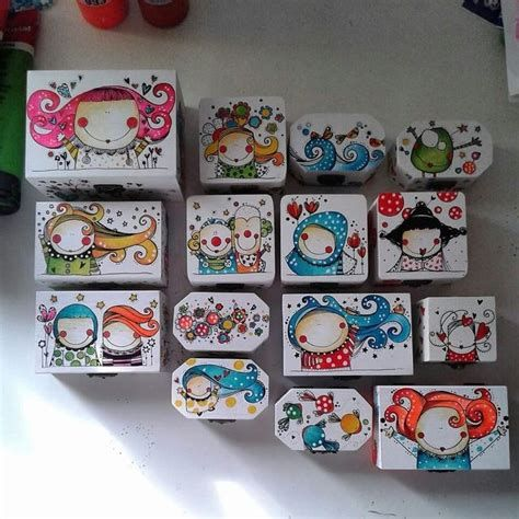 Cajas Madera Adornadas | Cajas Pintadas, Cajas Decoradas