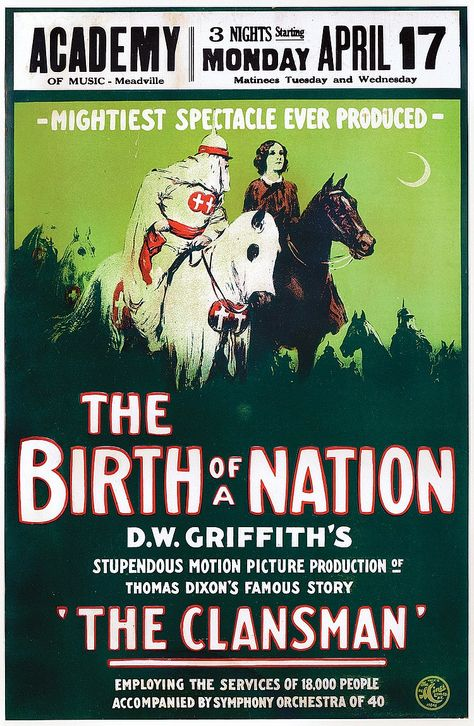 Window card poster for The Birth of a Nation.