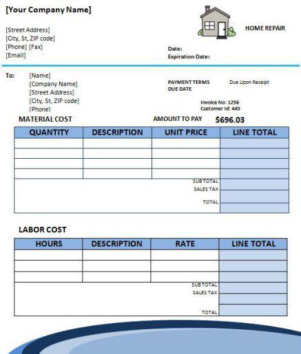Home Repair Invoice Template 8 Amazing Free Editable Templates Template Sumo Invoice Template Home Repair Repair