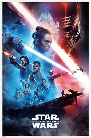 Star Wars The Rise Of Skywalker Official One Sheet Posters Allposters Com Star Wars Movies Posters Star Wars Wallpaper Iphone Rey Star Wars