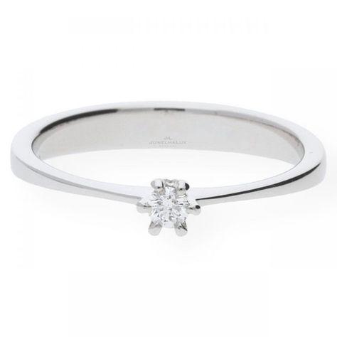 Juwelmalux Verlobungsring Jl26 07 0012 Weissgold 585 000 Mit Brillant