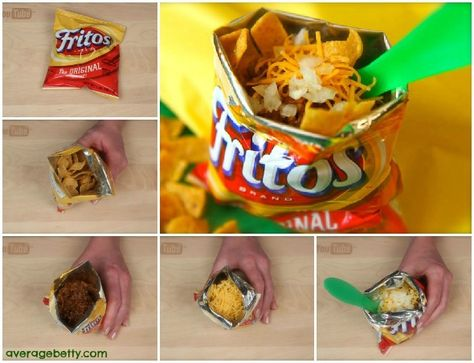 Frito Pie - Walking Taco Recipe...Marching Band Competition memories...