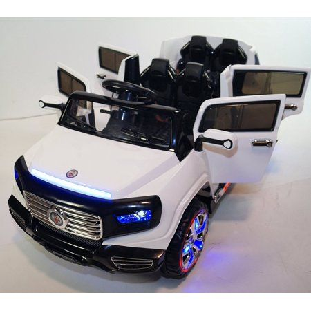Big 2 Seats Kids 12v Suv Style Ride On Car With 4 Doors Music Lights Remote Walmart Com Toy Cars For Kids Toy Car Kids Ride On Toys