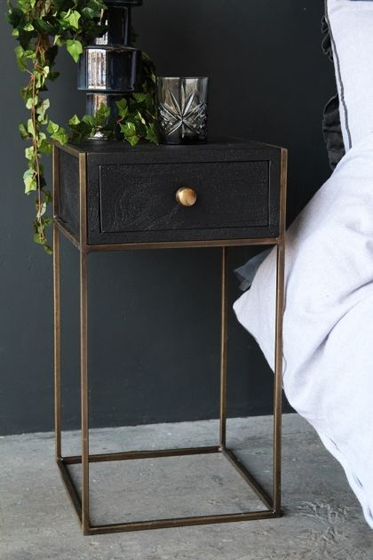 Halcyon Bedside Table With Drawer Bedside Table Decor Bedroom